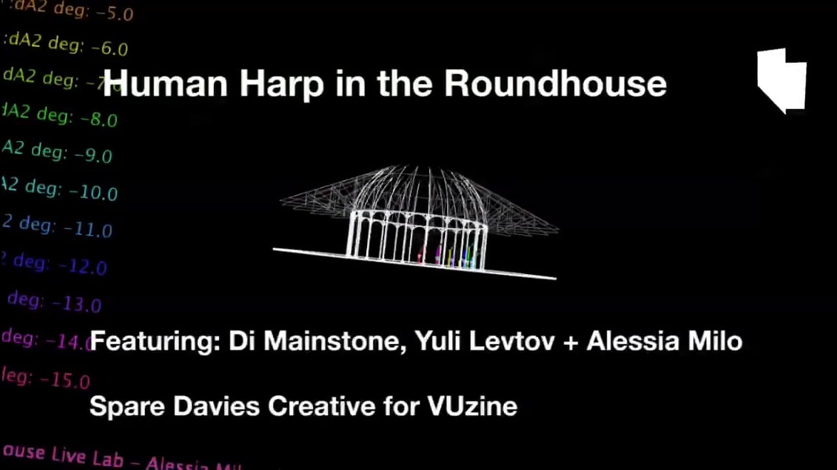 Human Harp in the Roundhouse
