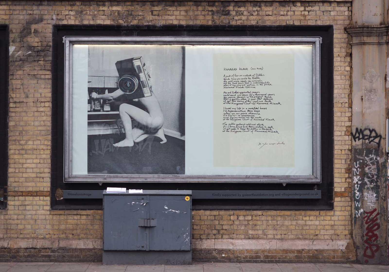 Linder's composite photograph and John Cooper Clarke's Kamarad Klaak