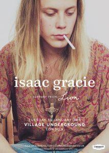 Isaac Gracie Village Underground 2018 v4 Web
