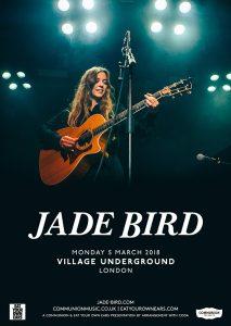 Jade Bird Village Underground March 2018 v2 Web