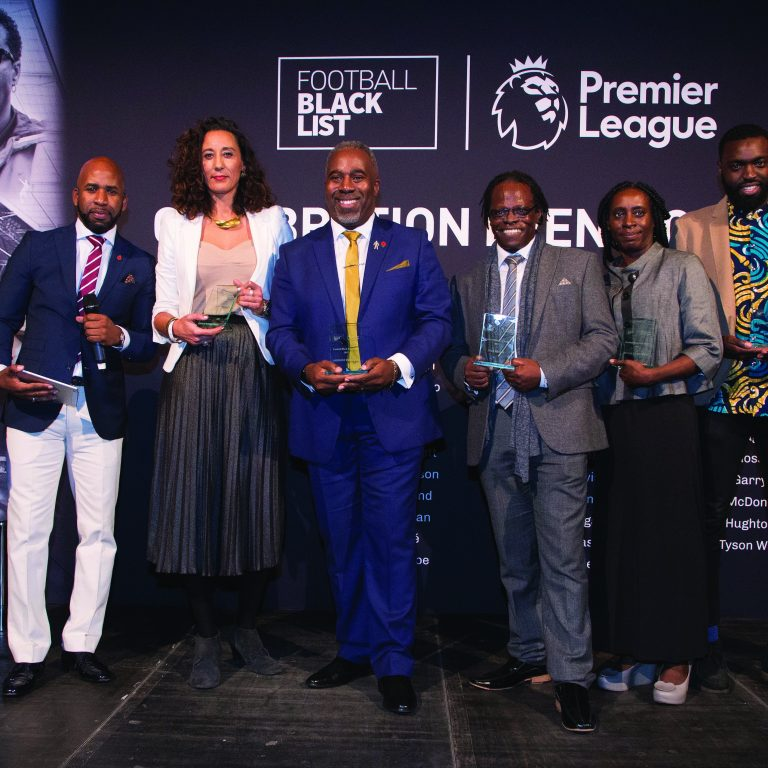 LONDON, ENGLAND - NOVEMBER 08:  Award at The Black Football List Celebration on November 8, 2017 in London, England. (Photo by Henry Browne/Getty Images for Premier League) *** Local Caption ***