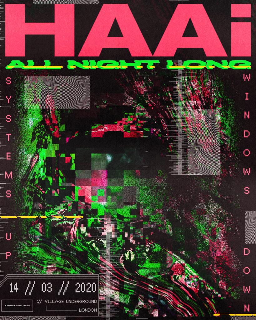HAAi - SUWD - Village Underground - Web poster